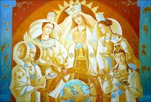 Fünf Hypostasen der Göttlichen Mutter